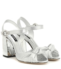 Mordore metallic leather sandals