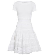 Ruffle-trimmed cotton-blend minidress