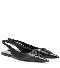 BB leather slingback ballet flats