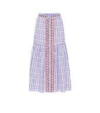 Poet printed high-rise cotton skirt