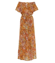 Exclusive to Mytheresa – Leopard-print silk maxi dress
