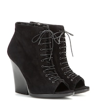 Virgina Ari suede open-toe ankle boots