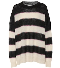 Reece striped mohair-blend sweater