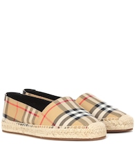 Check canvas espadrilles