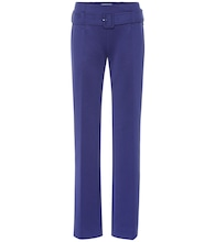 Belted technical jersey pants