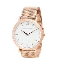 Lugano 40mm rose gold-plated watch