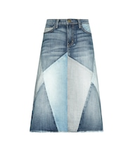 The Patchwork denim skirt