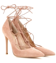 Femi lace-up suede pumps