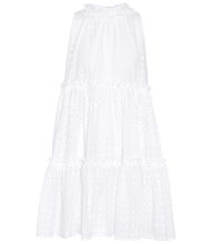 Cotton eyelet mini dress
