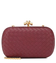 Chain Knot leather clutch