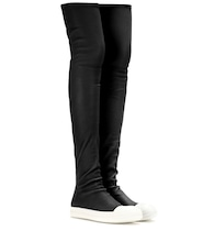 High Sock leather over-the-knee boots