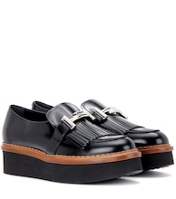 Double T platform leather loafers