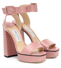 Jax 125 leather platform sandals