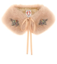Lucy embellished faux fur collar