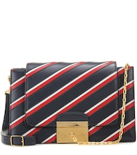 Pembroke College Stripe leather shoulder bag