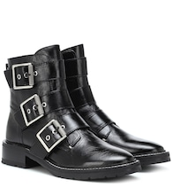 Cannon leather ankle boots