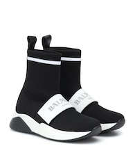 High-Top-Sneakers aus Mesh