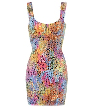Printed stretch-jersey minidress