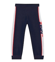 FENDI MANIA cotton-blend trackpants