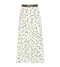 Moraya printed silk midi skirt