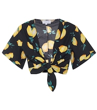 Exclusive to Mytheresa – Sandy printed cotton crop top