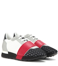 Sneaker Runner Race in pelle e mesh
