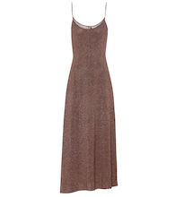 Scarlett metallic knit midi slip dress