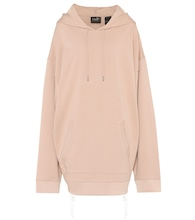 Oversized cotton-jersey hoodie