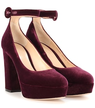 Sherry velvet pumps