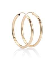 Ultra Light 14kt gold hoop earrings