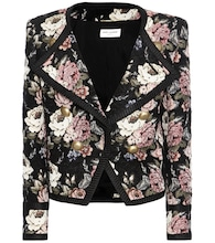 Wool-blend jacquard cropped jacket