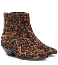 West 45 leopard-print suede ankle boots