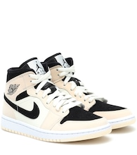 Air Jordan 1 Mid leather sneakers