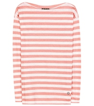 Portovenere striped linen-jersey top