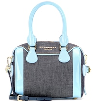 The Alchester denim and patent leather shoulder bag