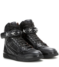 Tyson Stars leather high-top sneakers