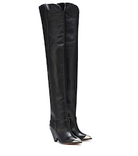Lafsten leather over-the-knee boots