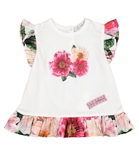 Baby floral cotton jersey dress