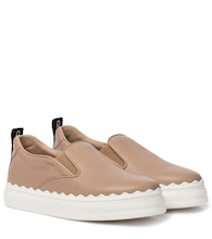 Lauren leather slip-on sneakers