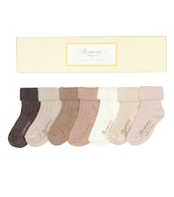 Baby cotton-blend sock set
