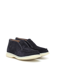 Ankle Boots Open Walk aus Veloursleder