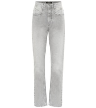 Dominic high-rise straight jeans