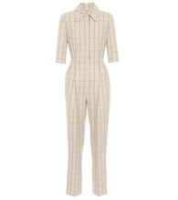 Brice houndstooth wool jumpsuit