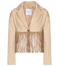 Alaïa Edition 1988 fringed cotton blazer