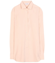 Kara brushed-silk shirt