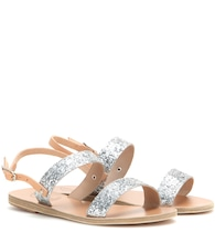 Clio leather and glitter sandals