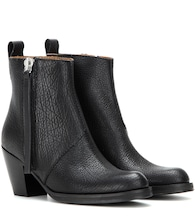 Pistol Short leather ankle boots