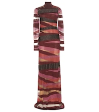 Wool-blend maxi dress