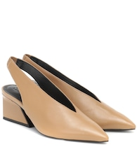 Kirstie leather slingback pumps