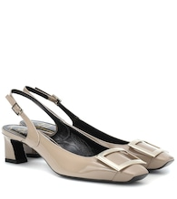 Trompette 45 slingback leather pumps
